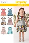 2377 Simplicity Pattern: Child's Dresses